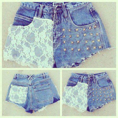 Calça jeans personalizada short 2