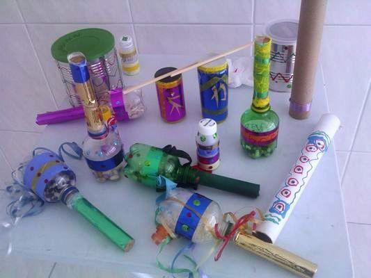 Instrumentos musicais de material reciclado 04