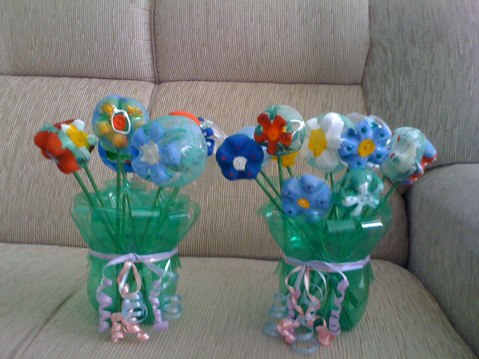Favoritos Vaso feito com garrafa PET e 30 modelos para se inspirar RF74