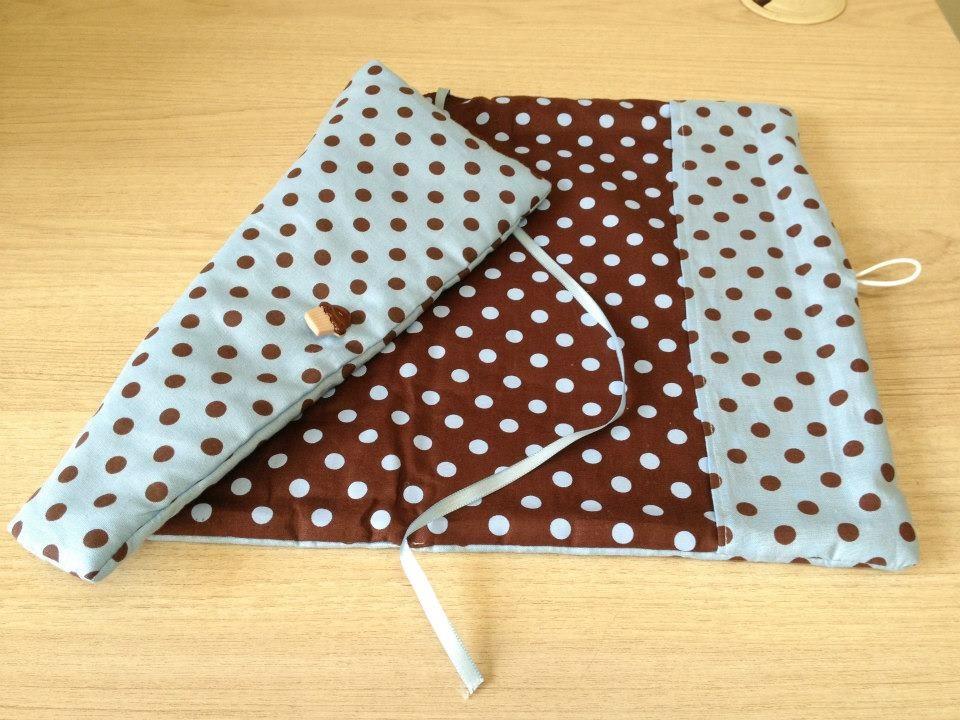 Como fazer bolsa para livro em tecido 01
