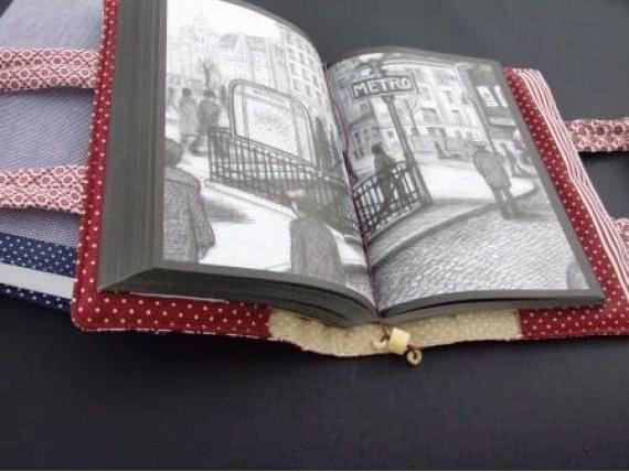 Como fazer bolsa para livro em tecido 02