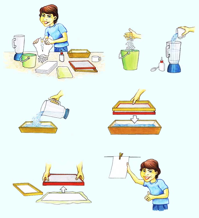 Como fazer papel reciclado caseiro 03
