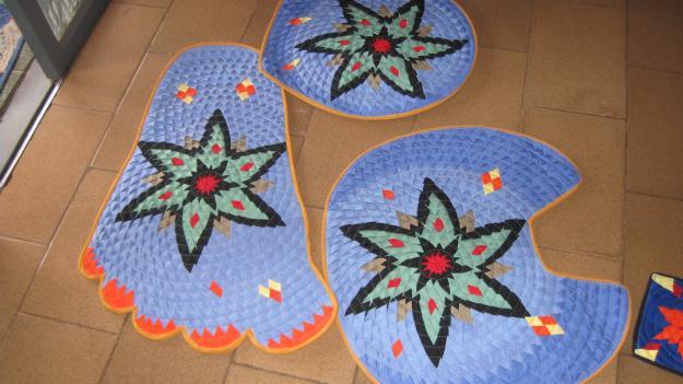 Como fazer tapete de retalhos 06
