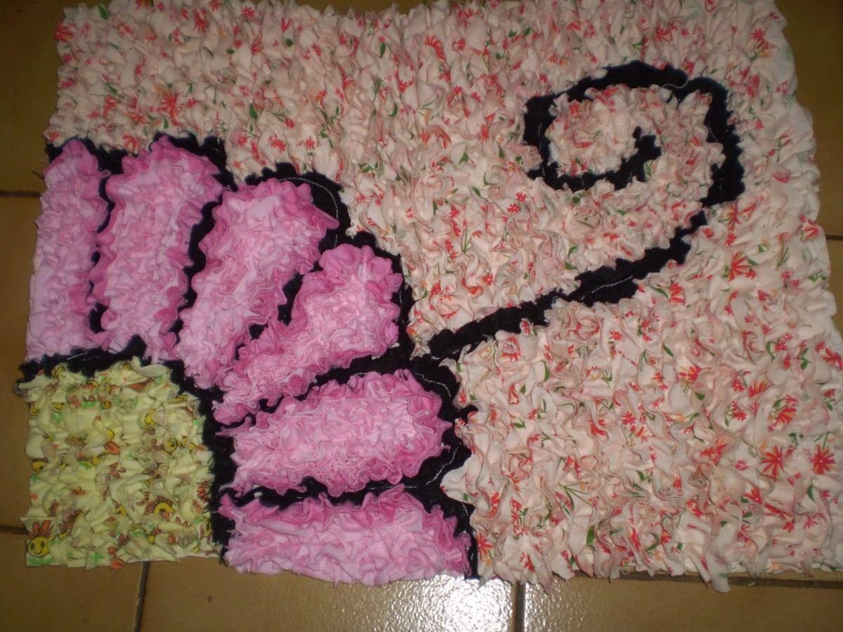 Como fazer tapete de retalhos 17