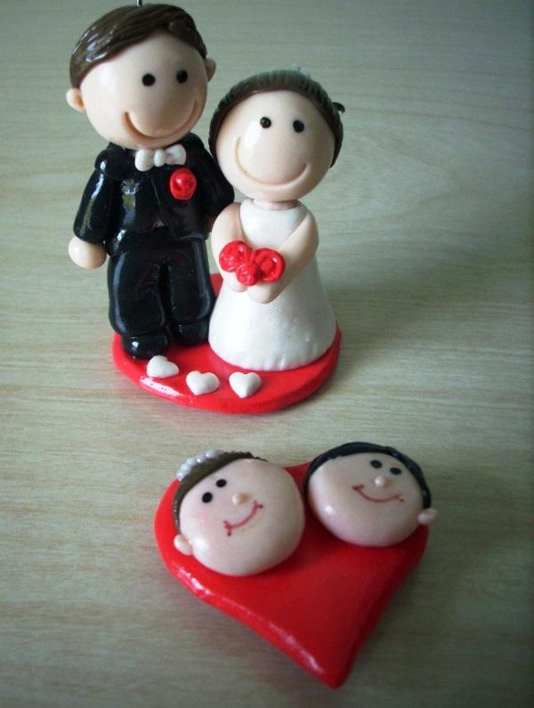 Lembranças de casamento em biscuit 01
