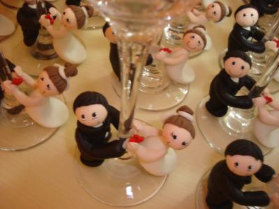 Lembranças de casamento em biscuit 15