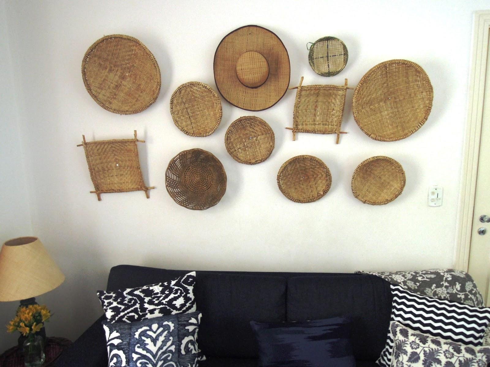 Paredes Criativas E Baratas -> Como Decorar Parede De Sala Com Material Reciclados