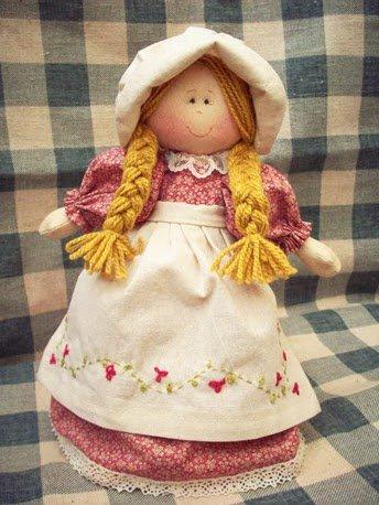 Como fazer boneca de pano 08