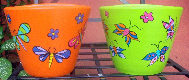 Como pintar vasos de cerâmica 10