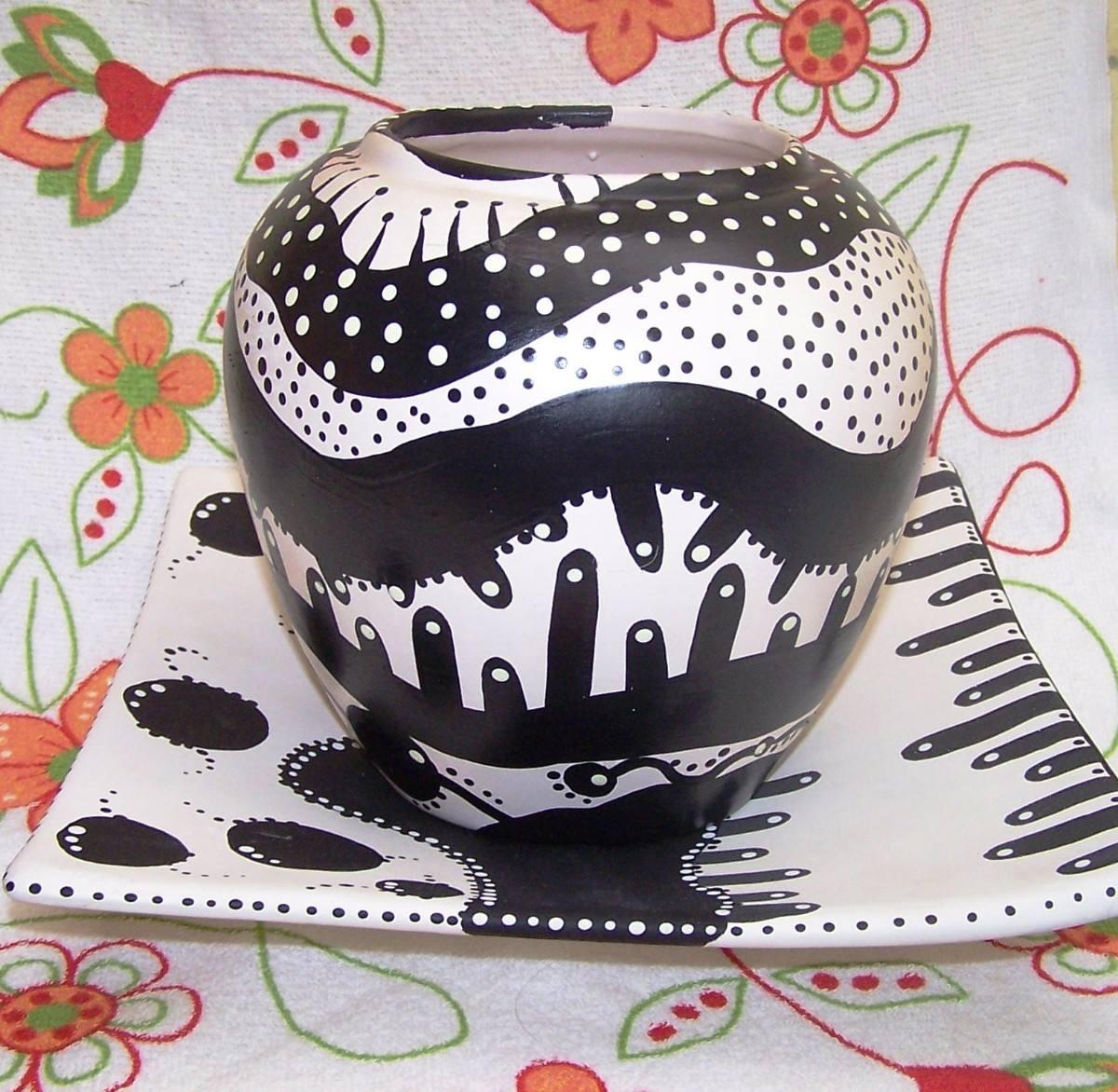 Como pintar vasos de cerâmica 14