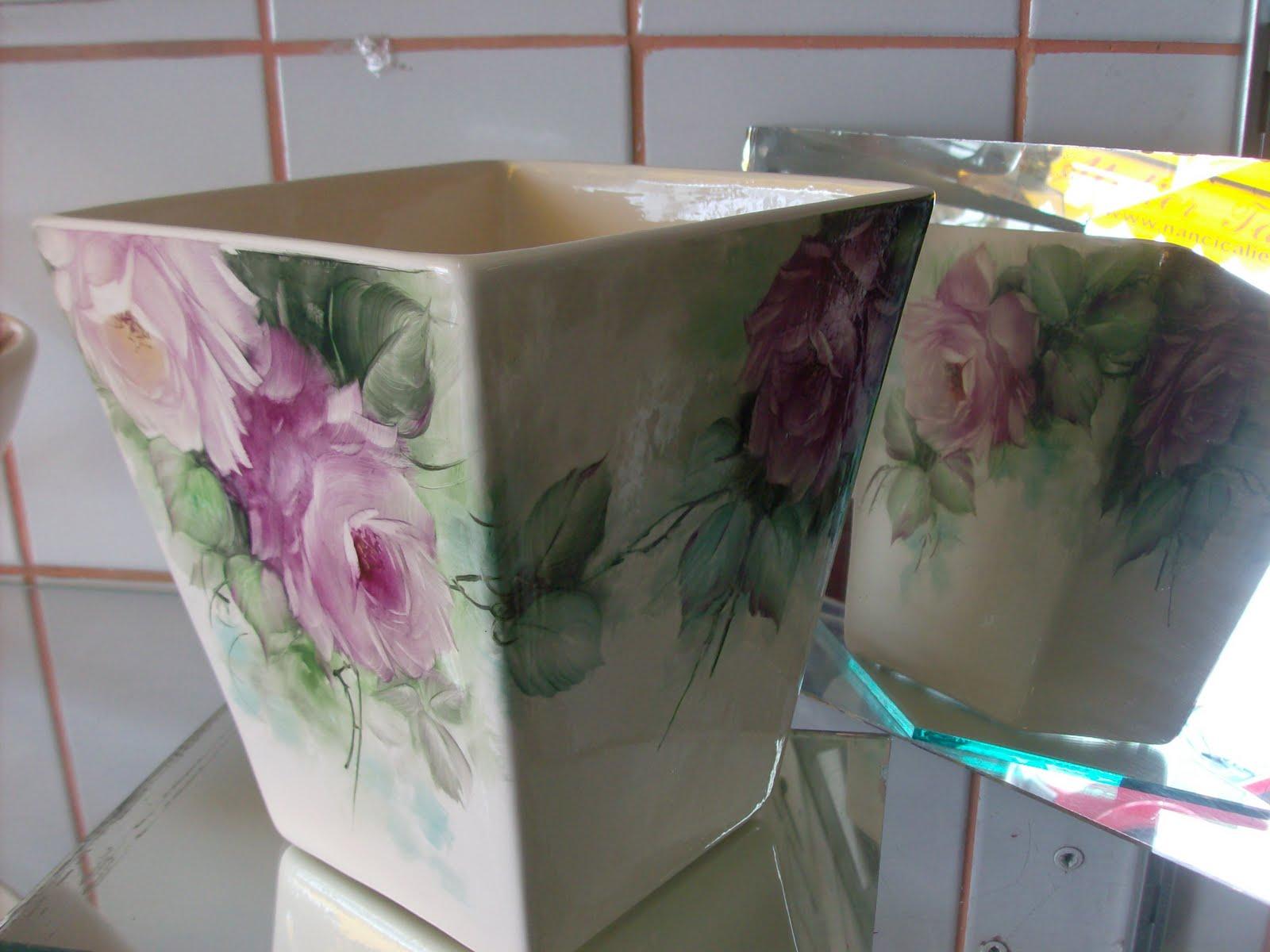 Como pintar vasos de cer mica for Tecnicas para esmaltar ceramica
