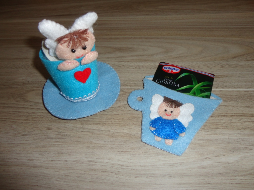 Lembrancinhas de chá de bebê em feltro 13