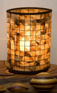 Luminária com filtro de café 01