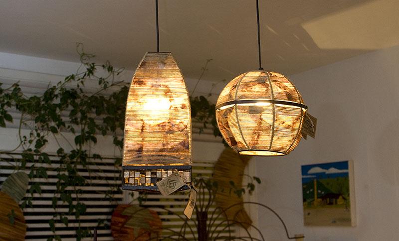 Luminária com filtro de café 03