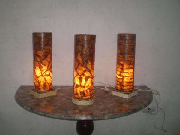 Luminária com filtro de café 12