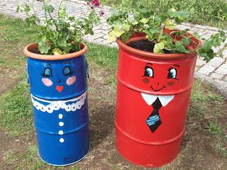 Vasos artesanais para seu jardim 11