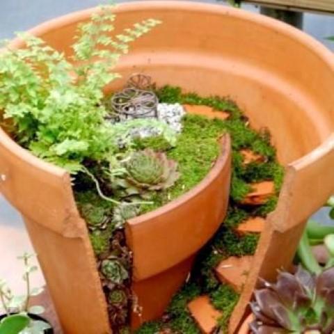 Como fazer um mini jardim decorativo 008