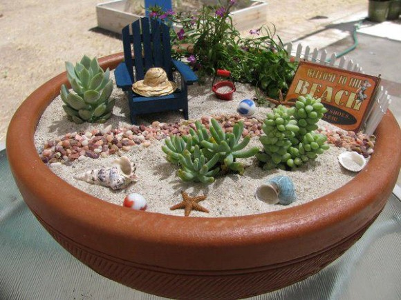 enfeites japoneses para jardim:Miniature Desert Garden