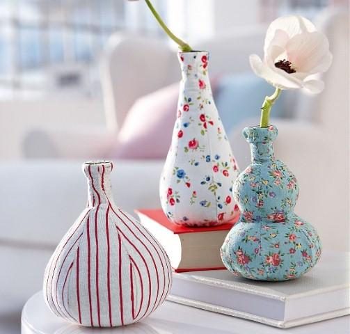 Enfeites de mesa com garrafa de vidro 013