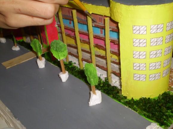 Maquete escolar casas 02