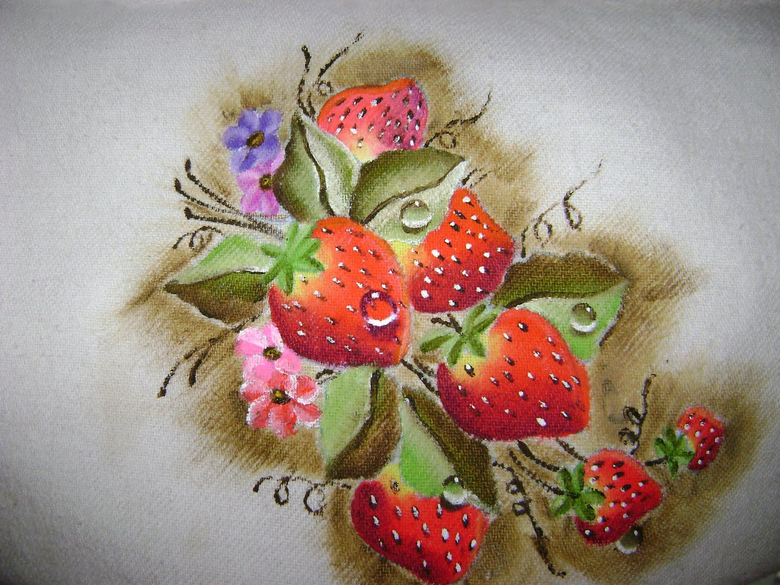 Pintura em pano de prato 01