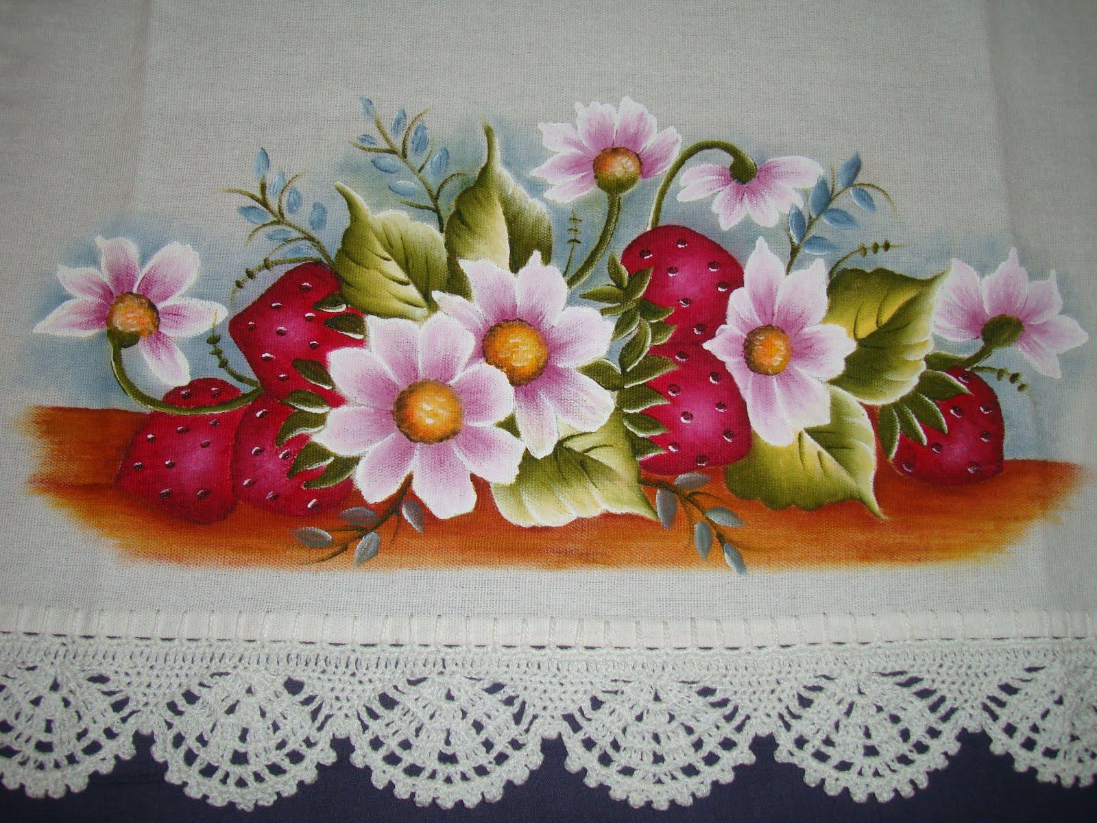 Pintura em pano de prato 04