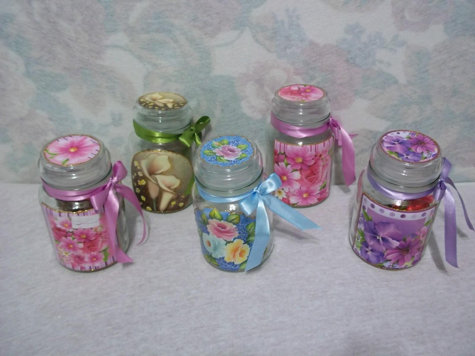 Potes de vidro decorados 07