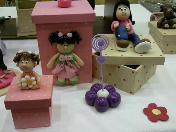 Caixas de MDF enfeitadas com biscuit 012