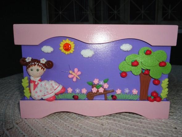 Caixas de MDF enfeitadas com biscuit 05