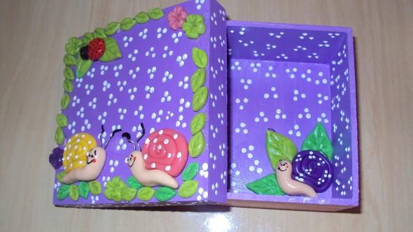 Caixas de MDF enfeitadas com biscuit 06