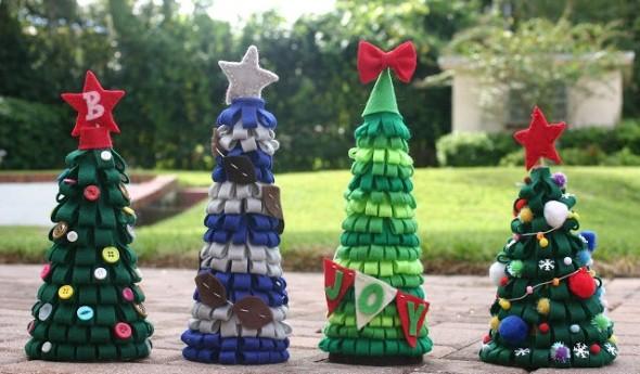 Como fazer árvore de natal artesanal 002