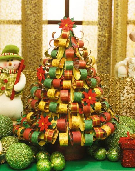 Como fazer árvore de natal artesanal 004