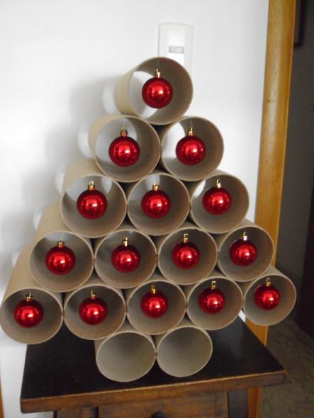 Como fazer árvore de natal artesanal 005