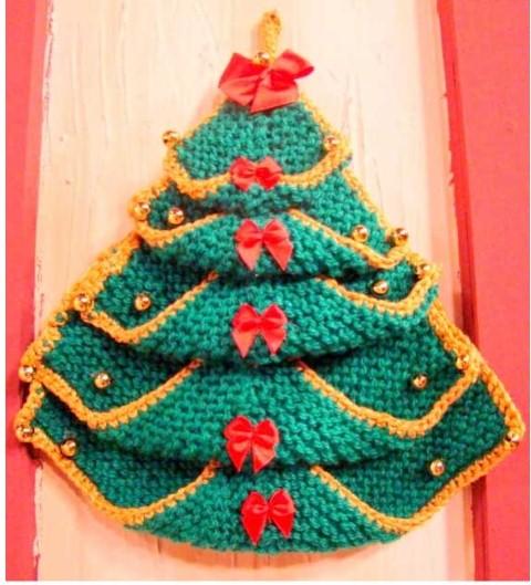 Como fazer árvore de natal artesanal 009