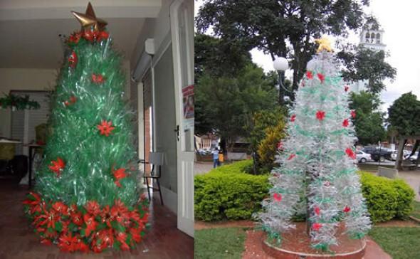 Como fazer árvore de natal artesanal 011