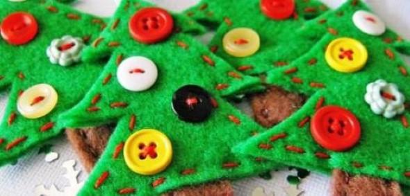 Como fazer árvore de natal artesanal 012