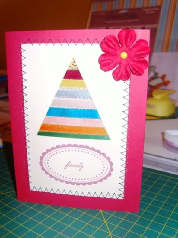 Como fazer cartão de natal artesanal 002