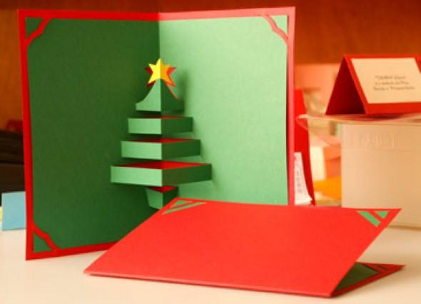 Como fazer cartão de natal artesanal 003