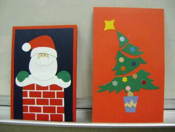 Como fazer cartão de natal artesanal 005