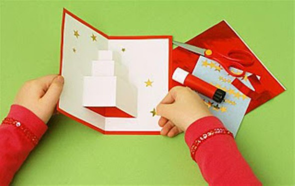 Como fazer cartão de natal artesanal 009