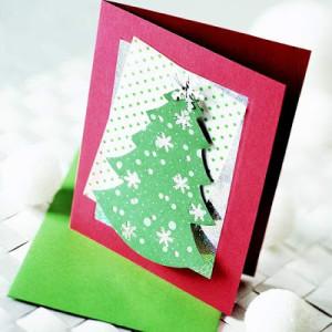 Como fazer cartão de natal artesanal 01