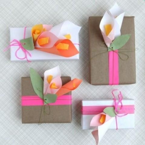 Como fazer flor de papel para decoração 09
