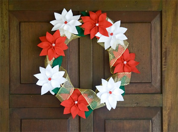 Guirlanda de natal artesanal - Decoracion navidena artesanal ...