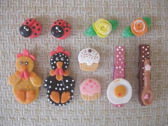 Modelos de imã de geladeira em biscuit