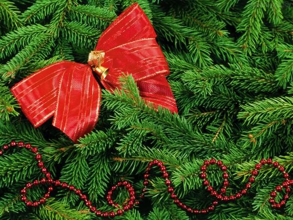 Laços de fita decorativos para o Natal 002