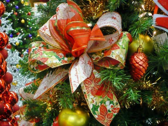 Laços de fita decorativos para o Natal 003