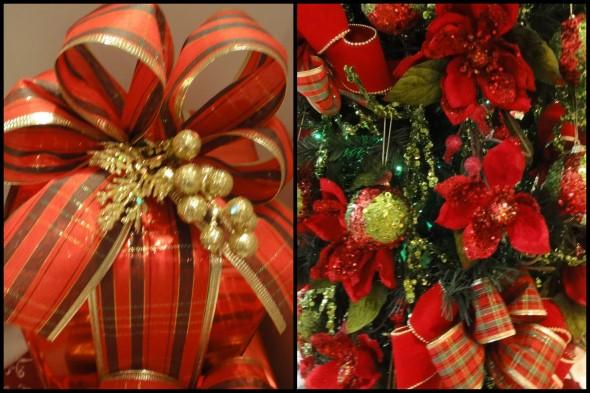 Laços de fita decorativos para o Natal 005