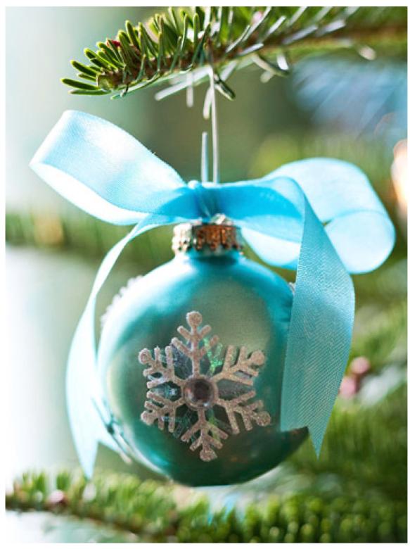 Laços de fita decorativos para o Natal 008