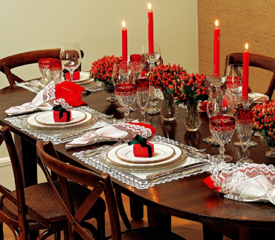 Laços de fita decorativos para o Natal 009