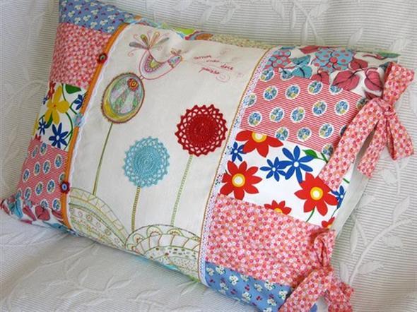 Almofada de patchwork 008